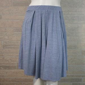 LuLaRoe XL Blue Madison Pleated Pocket Skirt